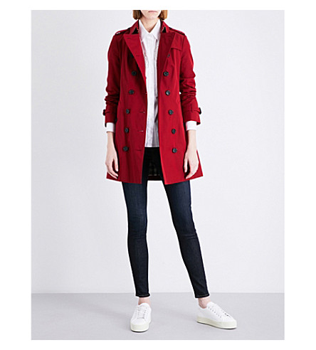 BURBERRY Sandringham cotton trench coat (Parade+red