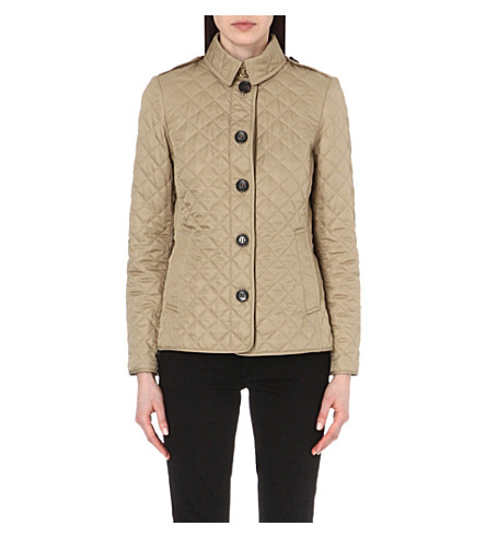 BURBERRY Ashurst diamond-quilted jacket (Canvas
