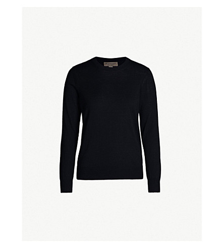 BURBERRY Elbow-patch wool jumper (Black