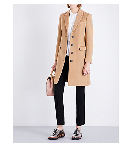 BURBERRY Sidlesham single-breasted wool and cashmere-blend coat (Camel