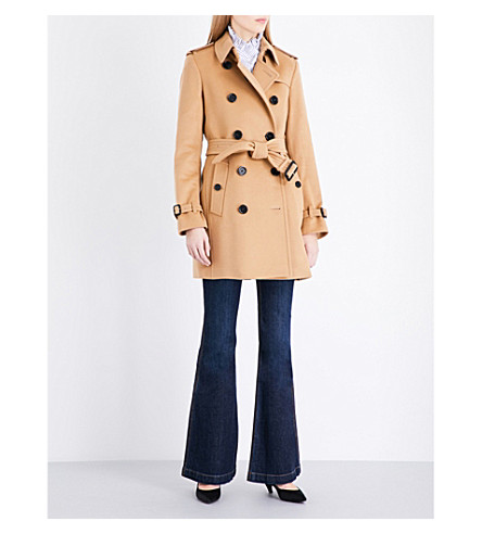 BURBERRY Kensington wool and cashmere-blend coat (Camel
