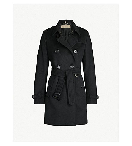BURBERRY The Kensington Heritage wool and cashmere-blend coat (Black