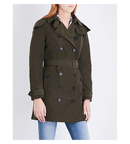 BURBERRY Balmoral taffeta trench coat (Dark+olive