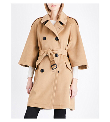 BURBERRY Dennington wool and cashmere-blend coat (Camel