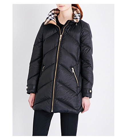 BURBERRY Eastwick quilted shell puffer coat (Black
