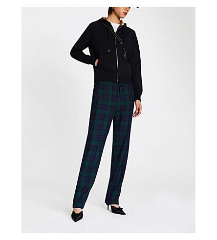 BURBERRY Zip-up cotton-blend hoody (Black