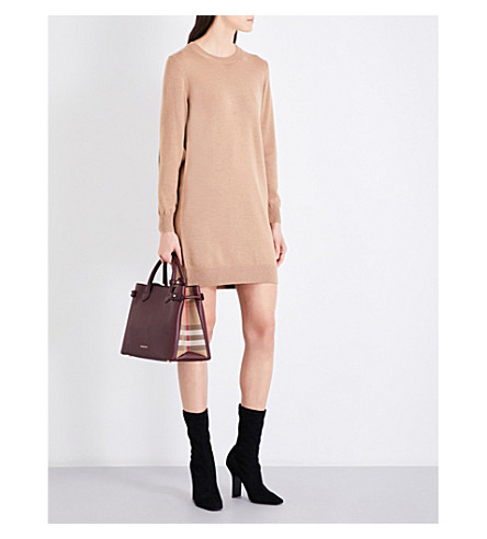 BURBERRY Alewater wool dress (Camel