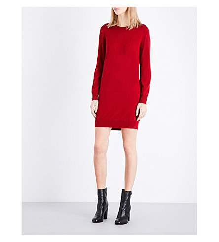 BURBERRY Alewater merino wool dress (Parade+red