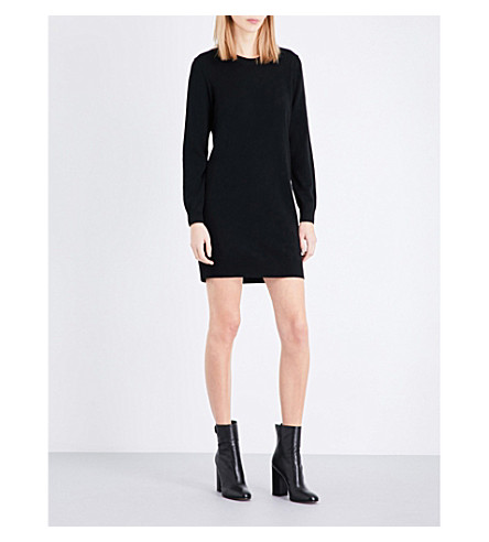 BURBERRY Alewater merino wool dress (Black