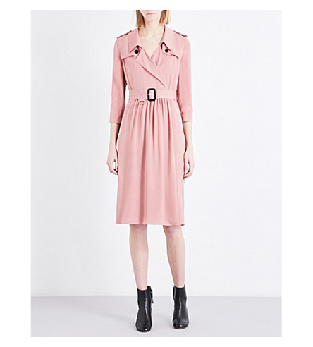 BURBERRY Agatha silk-crepe dress (Copper+pink