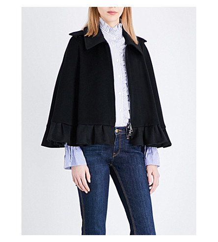 BURBERRY Marthall cashmere cape (Black