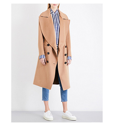 BURBERRY Crewdale camel hair and wool-blend coat (Camel