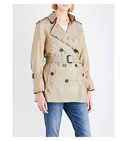 BURBERRY Ombersley shell trench coat (Sisal