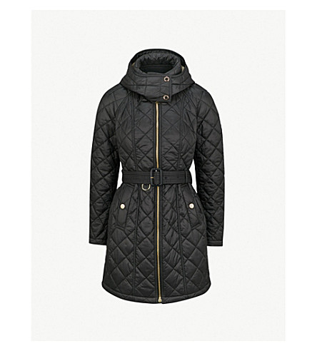 BURBERRY Baughton diamond-quilted shell parka coat (Black