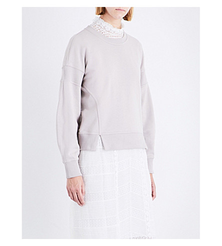 BURBERRY Minho cotton-jersey sweatshirt (Pale+mauve