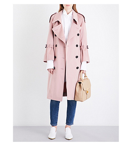BURBERRY Lakestone cashmere trench coat (Chalk+pink