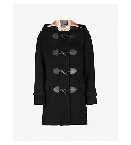 BURBERRY Mersey wool-blend duffle coat (Black