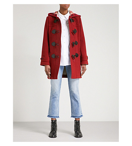 BURBERRY Mersey wool-blend duffle coat (Parade+red