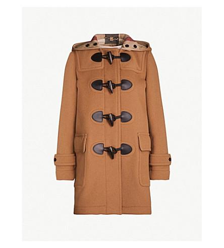 BURBERRY Mersey wool-blend duffle coat (Mid+camel