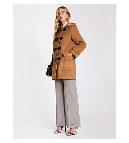 BURBERRY Mersey wool-blend duffle coat (Mid+camel