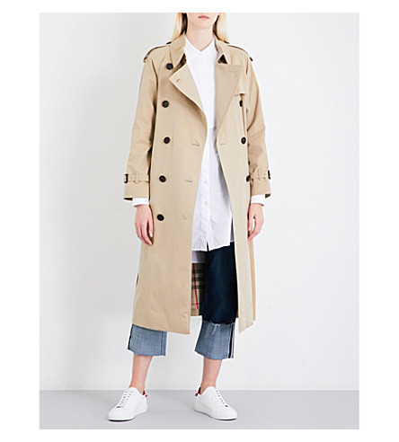 BURBERRY Westminster cotton trench coat (Honey