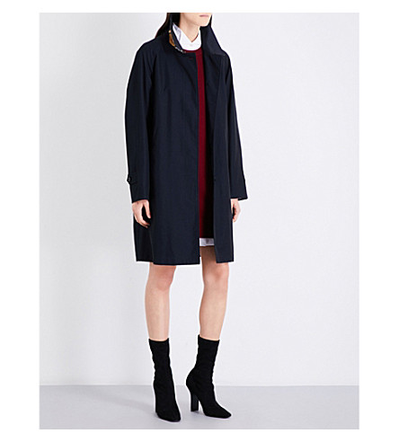 BURBERRY Camden cotton-gabardine car coat (Blue+carbon