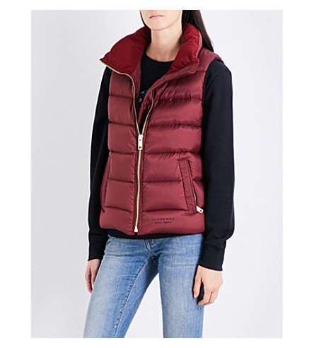 BURBERRY Bredon shell down gilet (Milatery+red