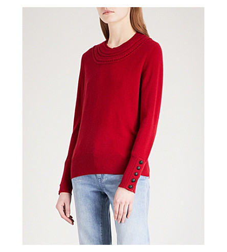 BURBERRY Carapelle cashmere jumper (Military+red
