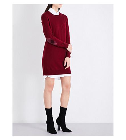 BURBERRY Alewater wool dress (Burgundy