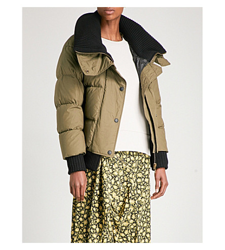 BURBERRY Greenlaw quilted cotton down jacket (Olive+green