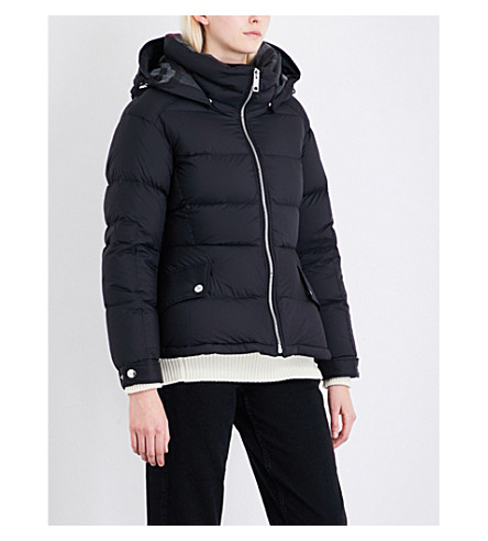 BURBERRY Fleetwood quilted down and feather-blend puffer jacket (Black