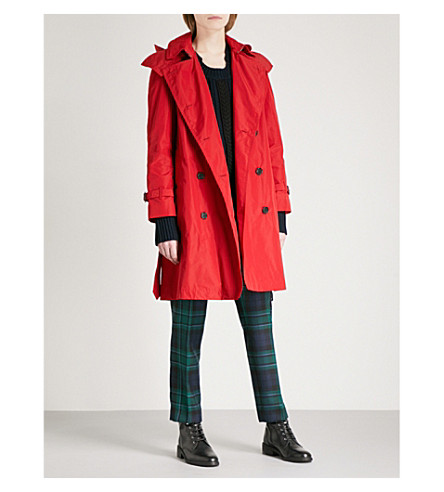 BURBERRY Amberford shell trench coat (Military+red