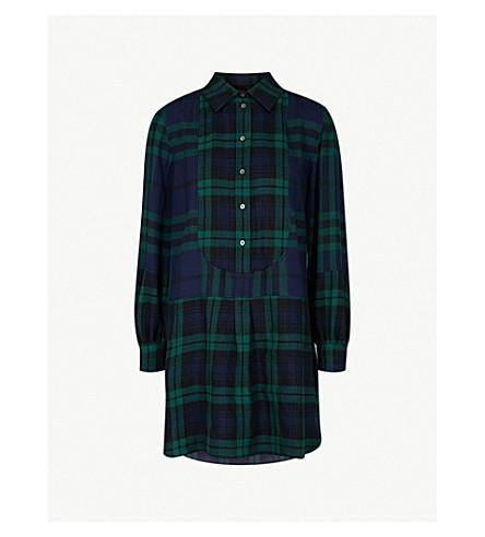 BURBERRY Kylie brushed-wool shirt dress (Navy