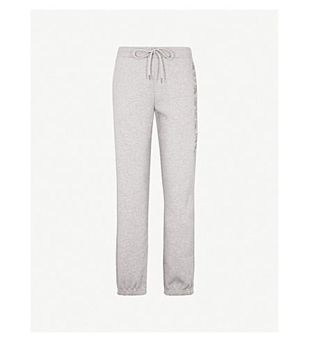 BURBERRY Francoli 锥形中腰平纹针织面料慢跑裤 (白 + 灰 + 混杂