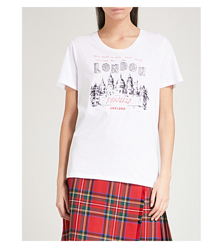 BURBERRY Cidacos London-print cotton-jersey T-shirt (White