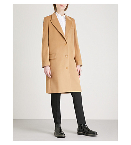 BURBERRY Fellhurst wool and cashmere-blend coat (Camel