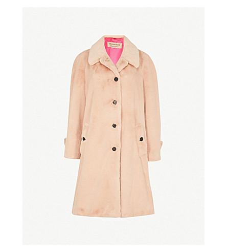 BURBERRY Twycross faux-fur coat (Nude