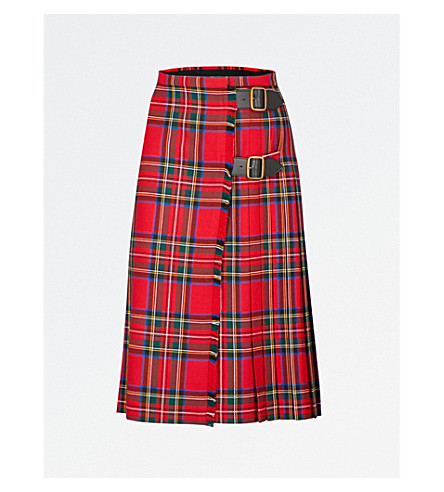 BURBERRY Taybridge wool skirt (Bright+red