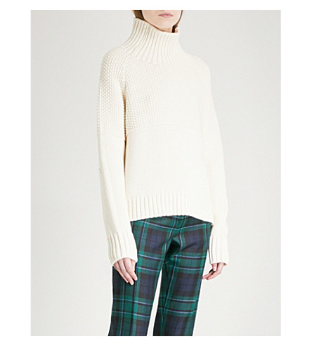 BURBERRY 道森羊绒毛衣 (自然 + 白色