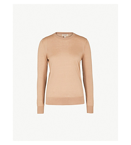 BURBERRY Viar elbow-patch wool jumper (Camel