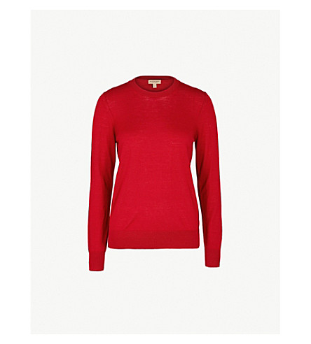 BURBERRY Viar wool jumper (Parade+red