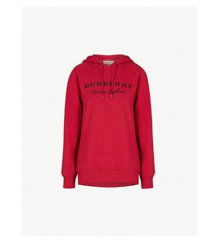 BURBERRY Krayford 棉混纺帽衫 (巡游 + 红