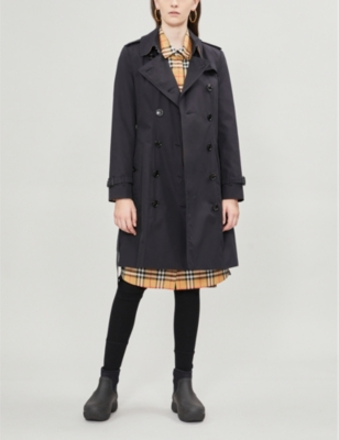 The Chelsea Heritage check-trimmed cotton trench coat(7344110)