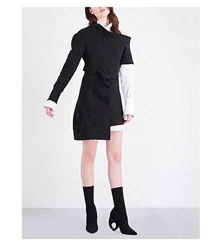 BURBERRY Asymmetric jersey dress (Black