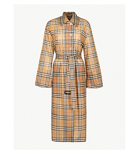 BURBERRY Vintage Check PVC trench coat (Antique+yellow+(check)
