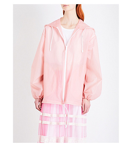 BURBERRY Hooded PVC jacket (Rose pink