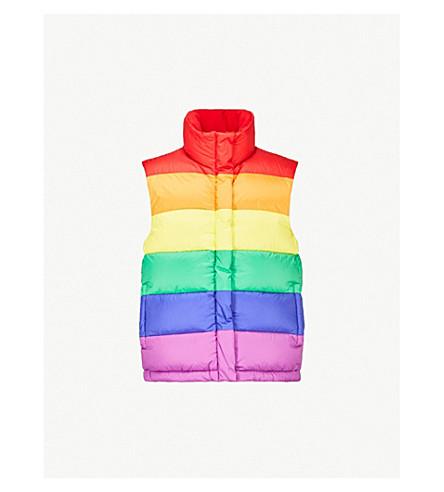 BURBERRY Rainbow shell-down gilet (Rainbow