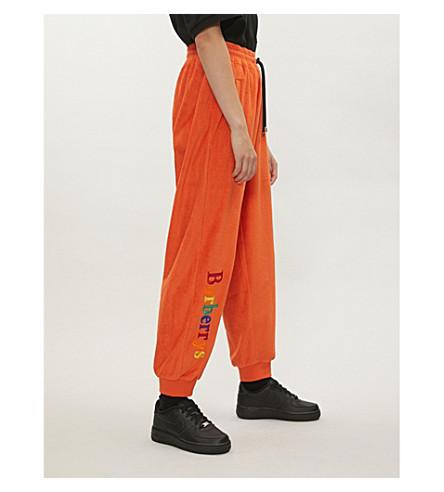 BURBERRY Burberrys cotton-towelling jogging bottoms (Tangerine
