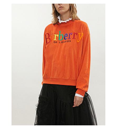 BURBERRY Burberrys cotton-towelling sweatshirt (Tangerine