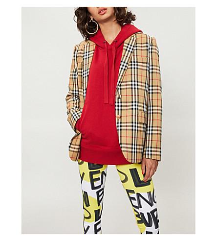 BURBERRY 格纹羊毛夹克 (古董 + 黄色